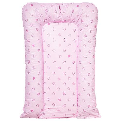 Matelas à langer Flocons 50x70 cm - Etoile rose
