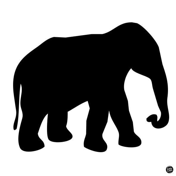 Carte contrastée bébé éléphant