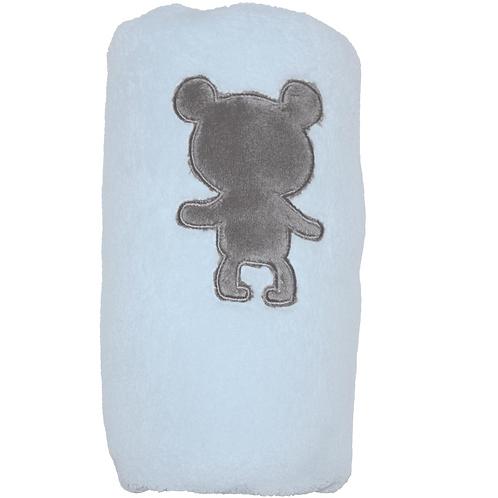 Couverture en velours Veloudouce 75x100 cm - Ourson bleu