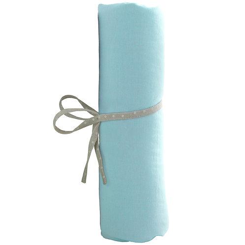 Drap housse uni 60x120 cm - Turquoise