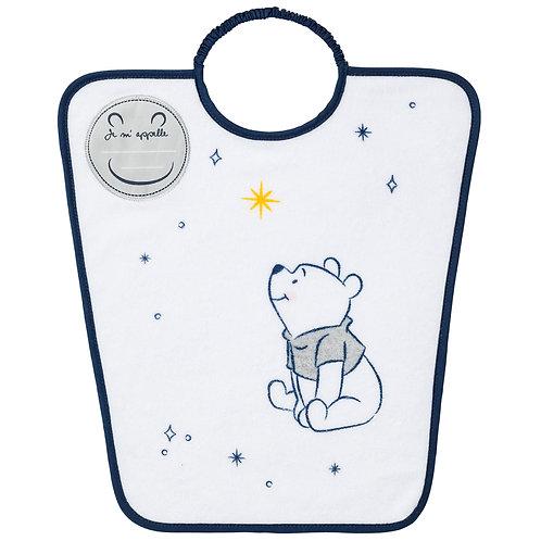 Bavoir maternelle avec étiquette nom Disney Winnie Moon