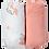 Thumbnail: Lot de 2 draps housses 70x140 cm - Licorne/Rose