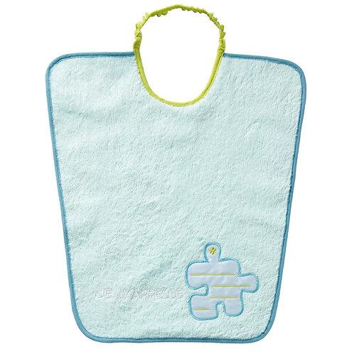 Bavoir maternelle avec étiquette nom - puzzle