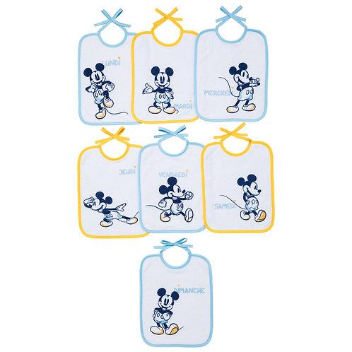 Lot de 7 bavoirs naissance Disney Classic Mickey