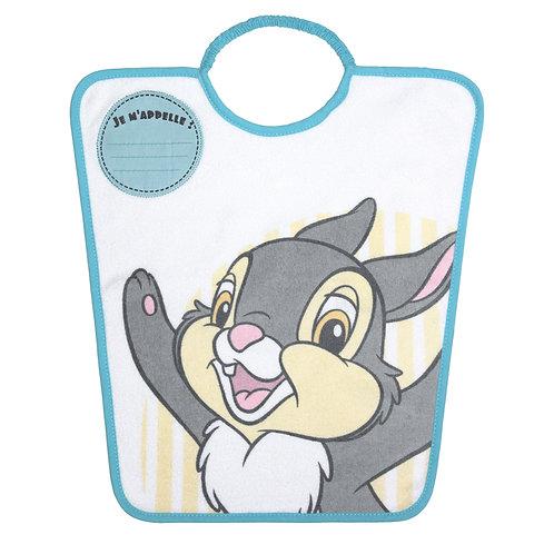 Bavoir maternelle avec étiquette nom Disney Pan-Pan Classic