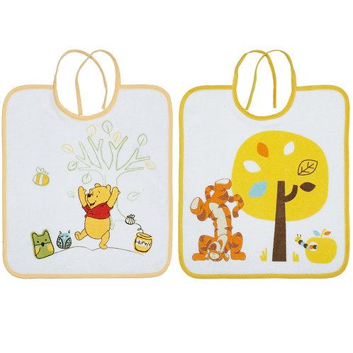 Lot de 2 bavoirs Disney Winnie Doodle Craft jaune - 6 mois