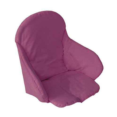Coussin de chaise haute en tissu - Prune