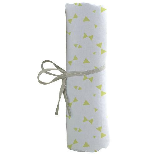 Drap housse uni 70x140 cm - Imprimé nœuds verts