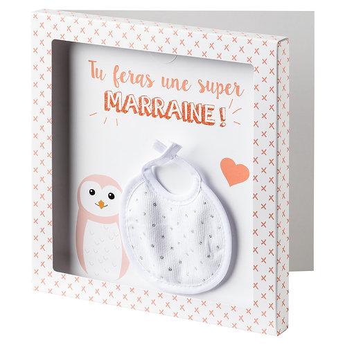 """Carte surprise cadre + enveloppe """"Tu vas être Marraine"""""""