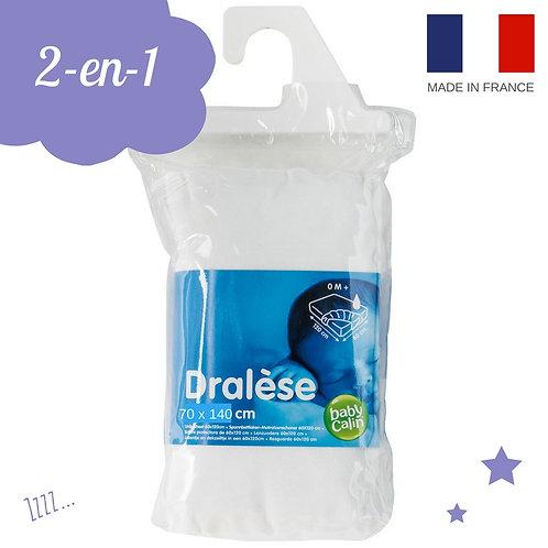 Dralèse 2 en 1 drap-housse + alèse - 70x140 cm