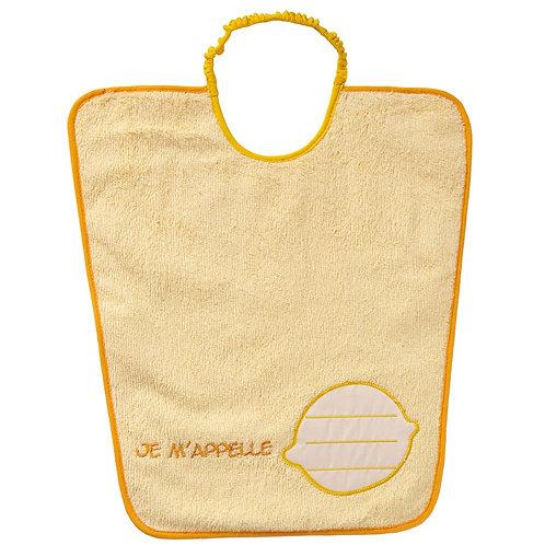 Bavoir maternelle avec étiquette nom - Citron