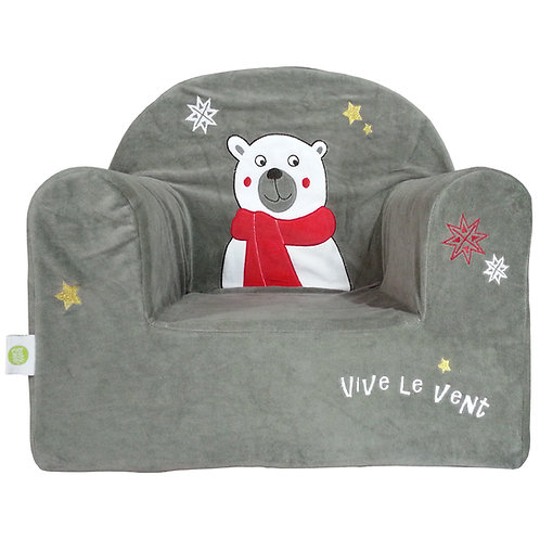 Fauteuil droit enfant Noël - Ours polaire