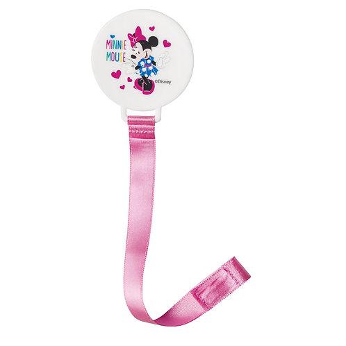 Attache tétine ruban Disney Minnie Pink Girl