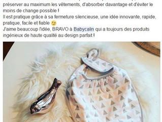 Mère Pas Parfaite parle du bavoir bandana de Babycalin !