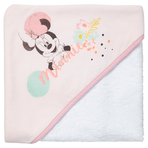 Cape de bain Disney Minnie Floral - 80x80 cm