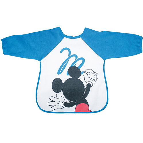Bavoir tablier avec manche en éponge Disney Mickey - 18 mois