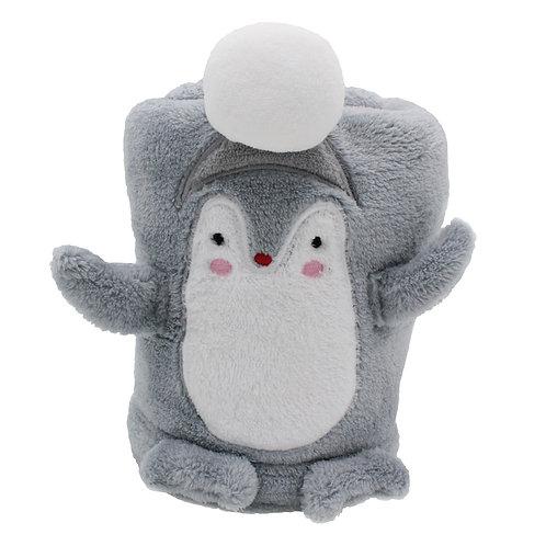 Couverture bébé ludique 75x100 cm - Pingouin