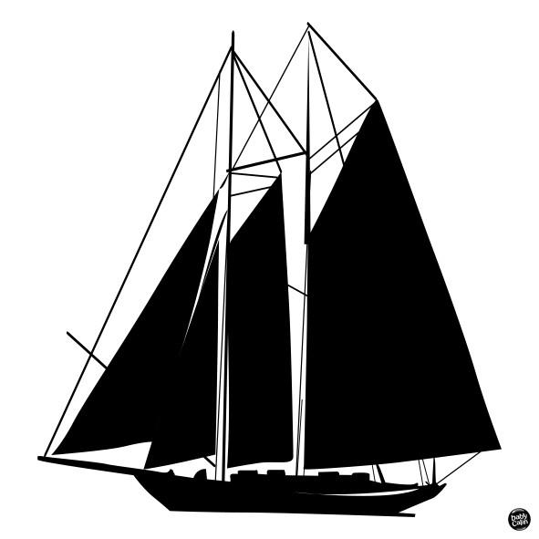 Carte contrastée bateau