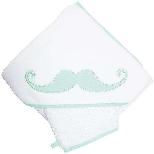 Cape de bain épaisse en éponge 80x80 cm - Moustache