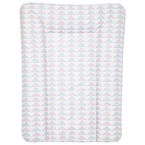 Matelas à langer essentiel 50x70 cm - Géométrique rose et gris