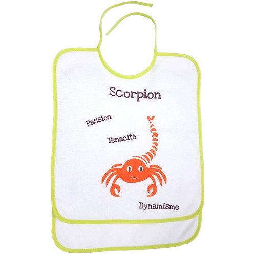 Lot de 2 bavoirs scorpion - 6 mois