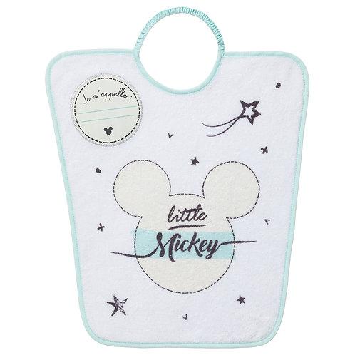 Bavoir maternelle avec étiquette nom Disney Mickey Little One