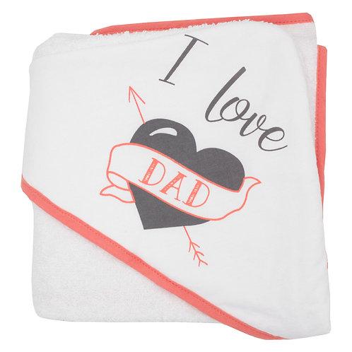 Cape de bain I Love Dad 70x70 cm - Naissance
