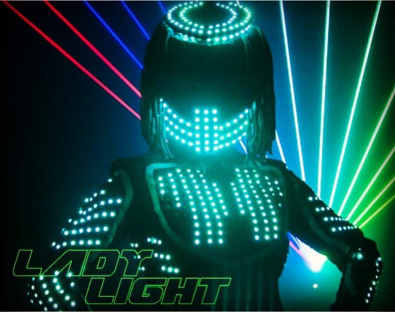 LED Robot Girl