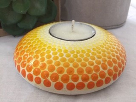 Yellow Tealight Candle Holder