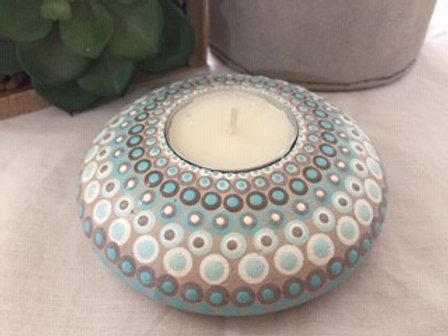 Aqua Coastal Tealight Candle Holder