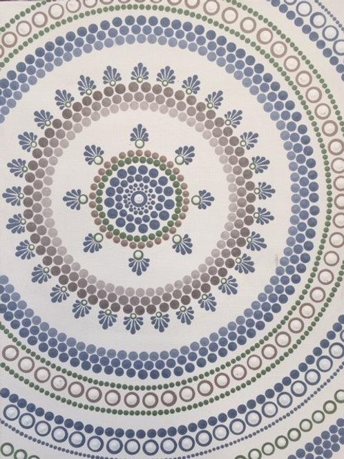 Coastal Mandala Canvas 30cm x 40cm x 1.7cm
