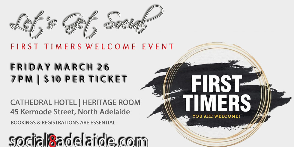 Let's Get Social   First Timers Welcome Event