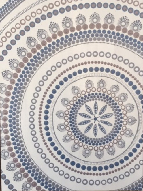 Blue and White Coastal mandala Canvas 30cm x 40cm x 1.7cm