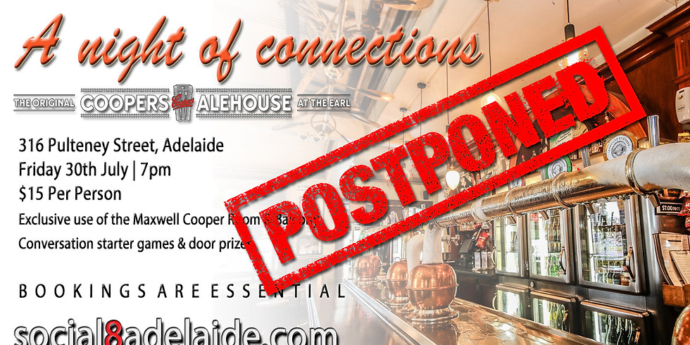 POSTPONED UNTIL FURTHER NOTICE - A Night of Connections