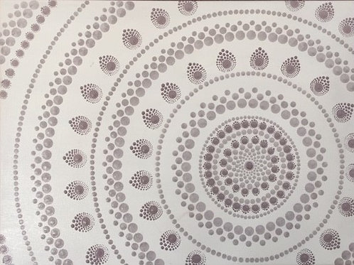Muted Pink Mandala Canvas 40cm x 30xm x 1.7cm