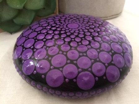 Purple Mandala Talisman Stone