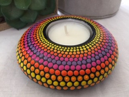 Bright Rainbow Tealight Candle