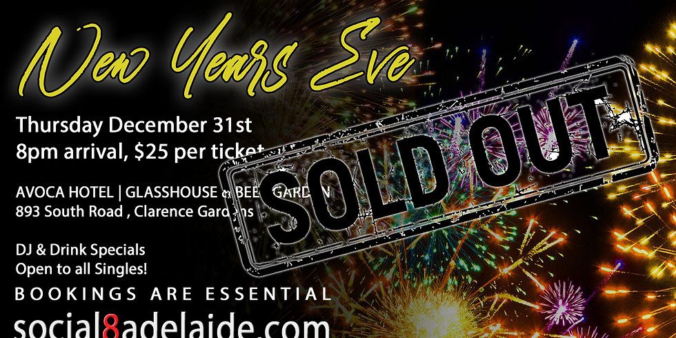 Adelaide's largest Singles New Years Eve Party!