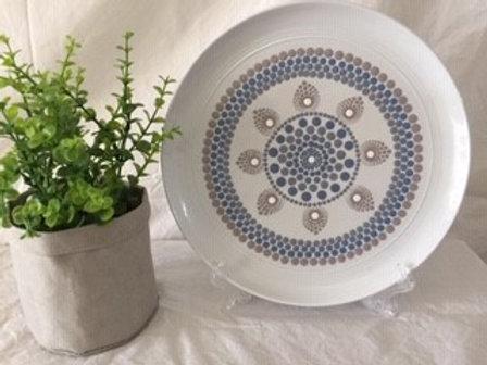 26.5cm Coastal colours Food Safe Mandala Platter
