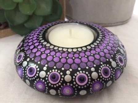 Purple and Silver Tealight Candle Holder