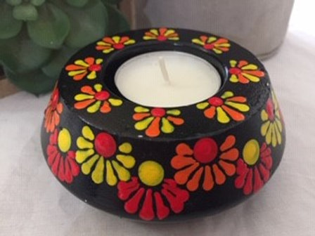 Black, Yellow, Orange and Red Tealight Candle Holder
