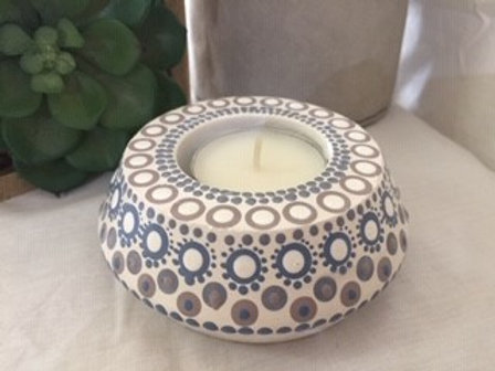 Coastal angled Tealight Candle Holder