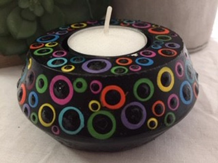 Multicolour Tealight Candle Holder