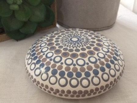 Coastal Mandala Talisman Stone