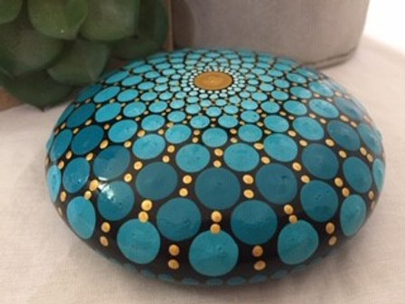 Turquoise and Gold Talisman Stone