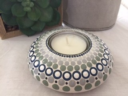 Stage, White and Navy Tealight Holder