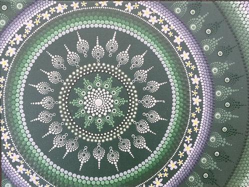 Bali inspired Mandala Canvas 40cm x 30cm x 1.7cm