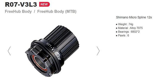 Bitex MTB Freehub Shimano Microspline 12s