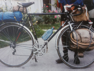 Parting the first wheelset I ever built (1980)