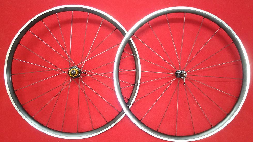 26mm Deep Clincher/Tubeless Aluminum Wheels